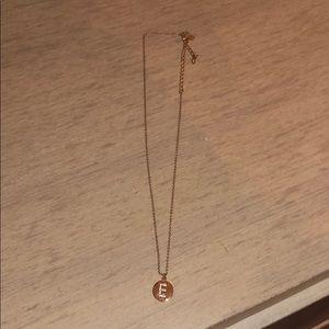 Kate Spade E Initial Necklace